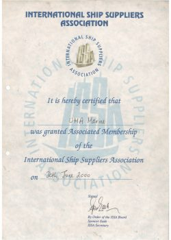 SUPPLY ISSA CERTIFICATE